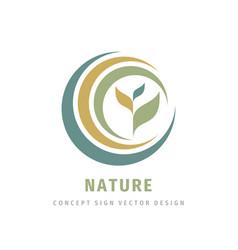 Nature leaves concept logo design development vector
