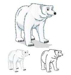 Polar Bear Cartoon Character vector