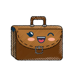 Portfolio cartoon smiley cute vector