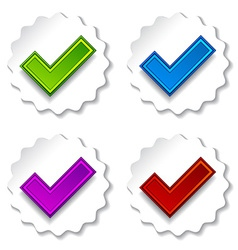 positive checkmarks vector image