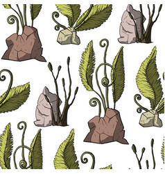 Prehistoric plants vector