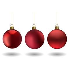 red christmas ball set vector image