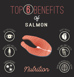 Salmon benefits image vector