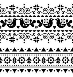 scandinavian christmas folk seamless design vector image