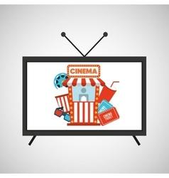 screen tv movie cinema concept icons vector image