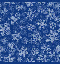 seamless pattern of many layers of snowflakes vector image