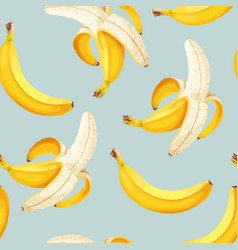 seamless patterns with high detailed banana vector image