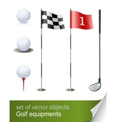 set golf equipment vector image