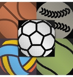 Set sport background vector image