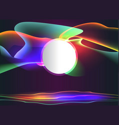 shining neon lights abstract page templatecool vector image