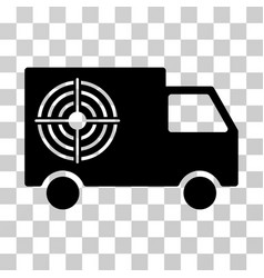 shooting gallery truck icon vector image vector image
