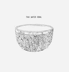 silver water bowl for blessing in songkran vector image