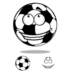 Soccer ball character happy smiling vector