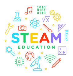 steam education learning - science technology vector image