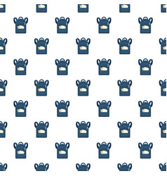 Student backpack pattern seamless vector