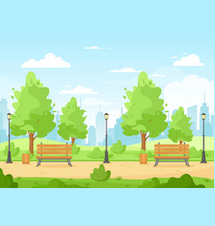 summer city park vector image