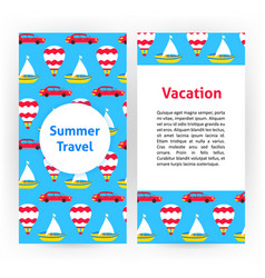 summer travel flyer vector image