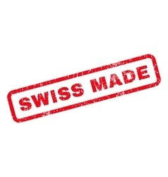 Swiss Made Rubber Stamp vector