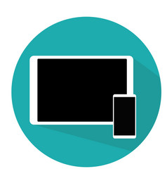 tablet and phone flat modern design blue vector image