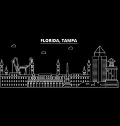 tampa silhouette skyline usa - tampa city vector image