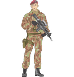 the soldier is a paratrooper vector image