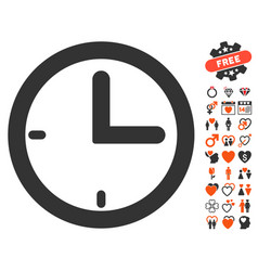 time icon with dating bonus vector image