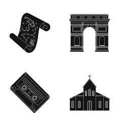 travel art and or web icon in black style vector image