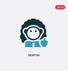Two color newton icon from science concept vector