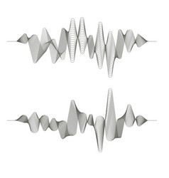 two music sound wave patterns vector image vector image