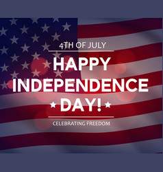 usa independence day banner or greeting card vector image