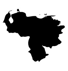 venezuela - solid black silhouette map of country vector image