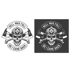 Vintage firefighter labels concept vector