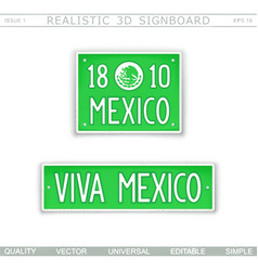 Viva mexico stylized car license plate vector