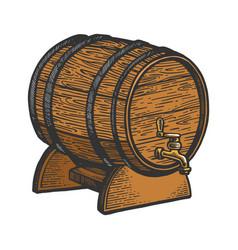 wine beer barrel sketch vector image