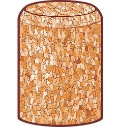 Wine cork vector