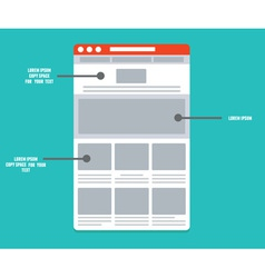 Wireframe - information structure and description vector
