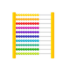 wooden toy abacus for children vector image