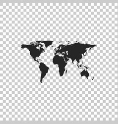 world map icon isolated on transparent background vector image