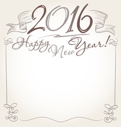 2016 and Happy New Year words vector image