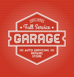Garage Label vector image vector image
