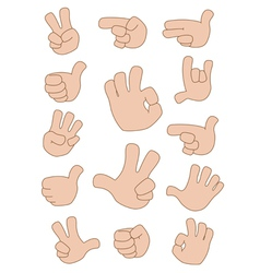 gestures collection vector image vector image