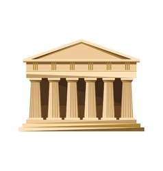 Greek temple icon isolated on white background vector image