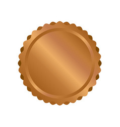 Modern bronze circle metal badges labels and vector