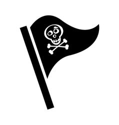 Pirate flag for design on white vector image