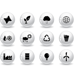 Web buttons environment icons vector image vector image