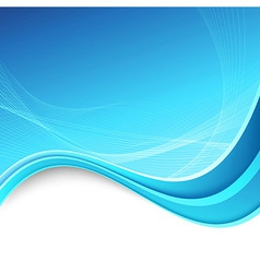 Abstracrt swoosh border lines blue background vector image vector image