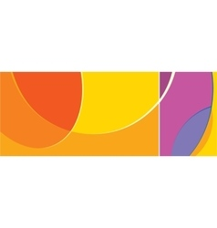Abstract shapes swirl background vector