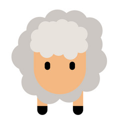 cute sheep icon vector image