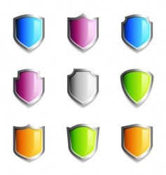 shield icons vector image vector image