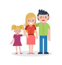 Young parents flat vector